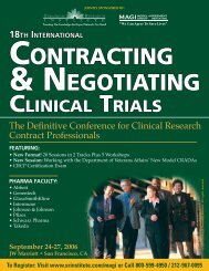 CONTRACTING & NEGOTIATING - ALM Events
