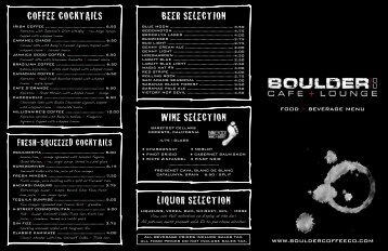 beer selection - Boulder Coffee Co.