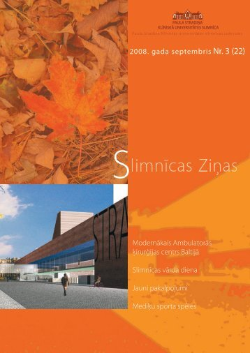 Slimnīcas Ziņas, septembris, 2008 - P. Stradiņa Klīniskā ...