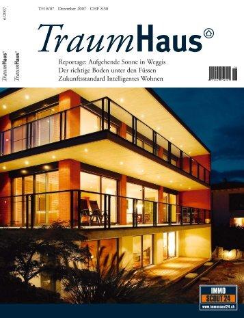 """Reportage im Magazin """"Traumhaus"""" - Müller Architekten AG"""