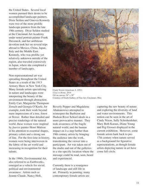 Fall 2011 Gallery Guide - Miami University School of Fine Arts