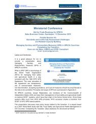 (SPS) in SPECA Countries - Standards and Trade Development ...