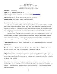 Fall 2009 Syllabus Analytical Chemistry (Chemistry 325) Lecture: T ...