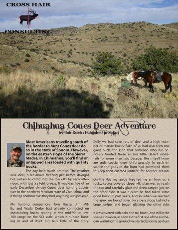 Chihuahua Coues Deer Adventure - Crosshair Consulting