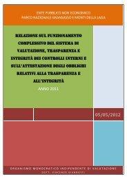 Relazione sul funzionamento complessivo del sistema di ...
