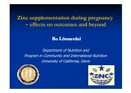 Zinc supplementation during pregnancy – effects on outcomes and ...
