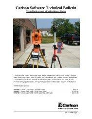 Carlson Software Technical Bulletin