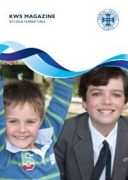 KWS Magazine 2012 Issue Three - Kinross Wolaroi School