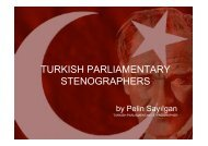 TURKISH PARLIAMENTARY STENOGRAPHERS Pelin - Intersteno
