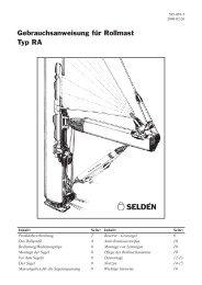 Gebrauchsanweisung für Rollmast Typ RA - Seldén Mast