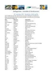 Deltagerliste - Transportens Innovationsnetværk