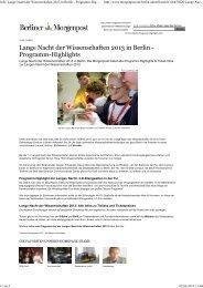 Info: Lange Nacht der Wissenschaften 2013 in Berlin - Programm ...