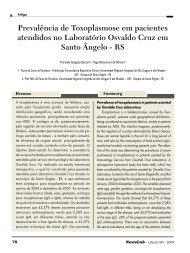 Prevalência de Toxoplasmose em pacientes atendidos ... - NewsLab
