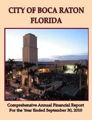 2010 CAFR - City of Boca Raton
