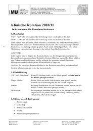Informationen für studenten neu - Chirurgische und gynäkologische ...