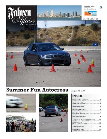Summer Fun Autocross - San Diego Chapter, BMW CCA