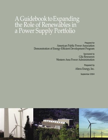 A Guidebook to Expanding the Role of Renewables in a Power ...