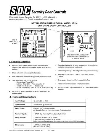 TS0866 V8 Tecom Reader 4-Door Controller Installation Guide