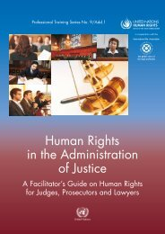 Human Rights in the Administration of Justice: A Facilitator's Guide ...