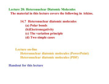 Lecture 28: Heteronuclear Diatomic Molecules The material ... - Cobalt