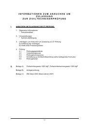 informationen zum ansuchen um zulassung zur ziviltechnikerprüfung