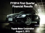 [PDF] FY2014 First Quarter Financial Results - Toyota