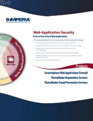 Imperva Web Application Firewall - Integrity Solutions