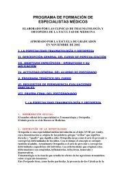 Programa de Formación - Clínica de Traumatología y Ortopedia ...