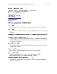 Rabbi Dr. Robert A. Daum PRINCIPAL CURRENT APPOINTMENTS ...