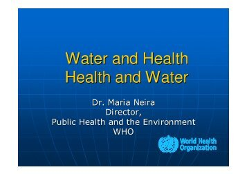 Water and Health. Health and Water - Ayuntamiento de Zaragoza