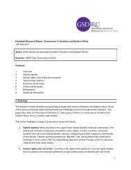 Governance in Southern and Eastern Africa - GSDRC