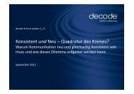 de_P_Science Update 0211 - decode Marketingberatung