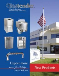 New Products from Glastender - Glastender, Inc.