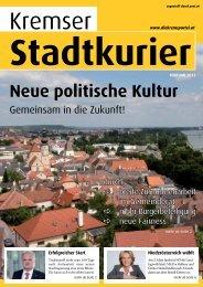 Neue politische Kultur - SPÖ Stadtorganisation Krems