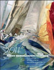 2011 Race Book - Marion-Bermuda Cruising Yacht Race