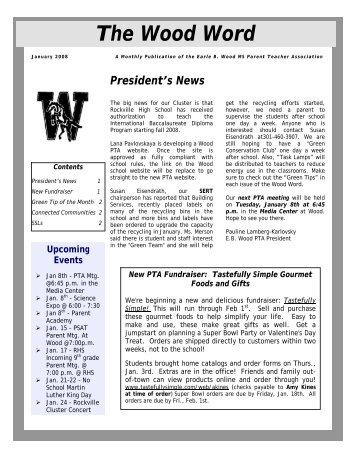 January 2008 (PDF) - Earle B. Wood Middle School PTA