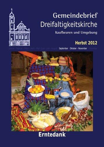 Gemeindebrief - Kirchenmusik an der Dreifaltigkeitskirche Kaufbeuren