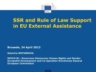 SSR and Rule of Law Support in EU External ... - Capacity4Dev