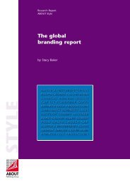 The global branding report - ABOUT Publishing Group ltd