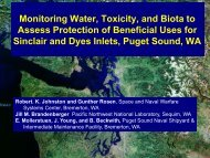 Monitoring Water, Toxicity, and Biota to Assess Protection of ...