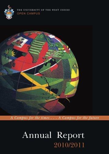 Annual Report - Open Campus - Uwi.edu