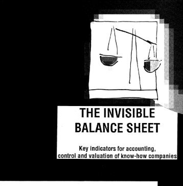Invisible Balance Sheet - Sveiby Knowledge Management