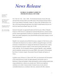 Global Leaders Named to Insurance Hall of Fame - International ...