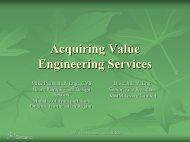 What to Acquire - SCAV-CSVA