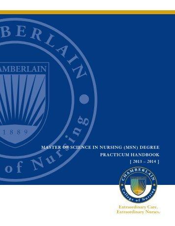 practicum handbook - Chamberlain
