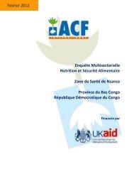Enquête Multisectorielle Nutrition et Sécurité Alimentaire Zone de ...