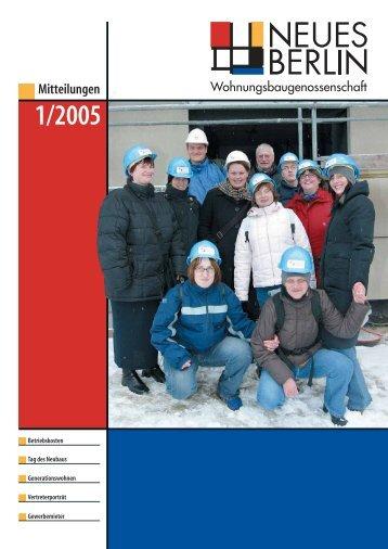 Mitteilungen - Wohnungsbaugenossenschaft Neues Berlin eG