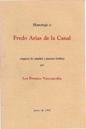 Los Premios Vasconcelos - Frente de Afirmación Hispanista
