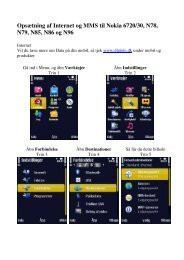 Internet og MMS på Nokia 6720/30, N78, N79, N85, N86 ... - DLG Tele