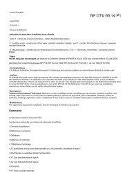 NF DTU 65.14 P1 - Agence Qualité Construction